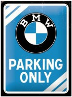 wandplaat 3D bmw parking only s8