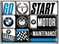 BMW Garage magneet set 9 delig8