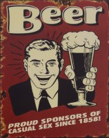 Beer Proud Sponsors Since 1858 metalenbord