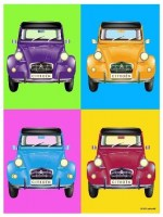Citroen 2 CV Collage metalen wandbord