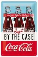 Coca Cola By The Case metalenbord 20x30 cm