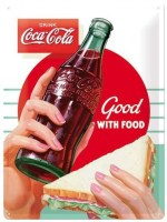 Coca Cola Good With Food metalenbord 40x30 cm