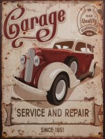 Garage Service And Repair metalen reclamebord
