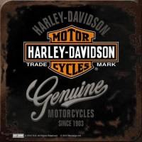 Harley Davidson Genuine trade mark metalen onderzetter