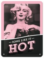 Marilyn Monroe Some Like It Hot metalenbord 20x15 cm
