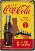 coca cola bottles postcard