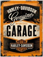 wandplaat 3D harley garage s