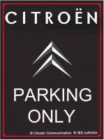 Citroen Parking Only metalen wandbord met facet rand4