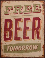 Free Beer Tomorrow metalenbord