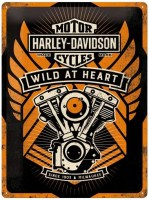 HARLEY DAVIDSON WILD -AT- HEART METALENBORD XL