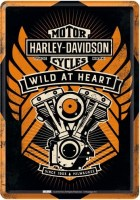 HARLEY DAVIDSON WILD -AT- HEART POSTCARD METAL