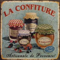 La Confiture metalen reclamebord