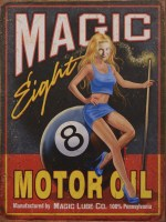 Magic 8 Motor Oil metalenbord
