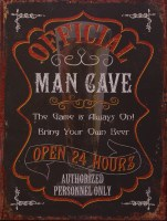 Official Man Cave metalenbord