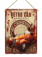 Retro Car Vintage Style XL origineel golfplaat metalen bord