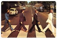 Te Beatles Abbey Road metalenbord 20x30 cm