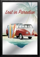 VW Volkswagen Lost in Paradise Surf Beach barspiegel