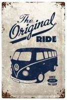 VW Volkswagen The Original Ride Bulli XXL metalenbord 40x60 cm