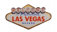 Welcome Las Vegas XL 3D metalenbord