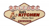 Welcome Mums Kitchen XL 3D metalenbord