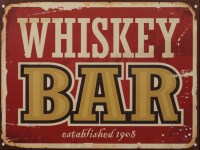 Whiskey Bar metalenbord