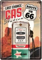 route 66 gas station postcard